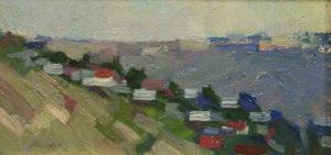 Красная-горка-картон-масло-10,5х19,5-1963