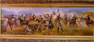 Балаклавское сражение. 25 октября 1854. 2006. х.м. 30х95
